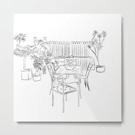 Childhood backyard Metal Print