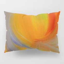 """Orange Blossom"" Original oil finger painting by Monika Toth Pillow Sham"