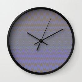 Subtle Wavy Purple and Grey Chevron Heartbeat Pattern Wall Clock