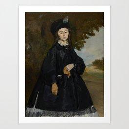Édouard Manet - Portrait of Madame Brunet Art Print