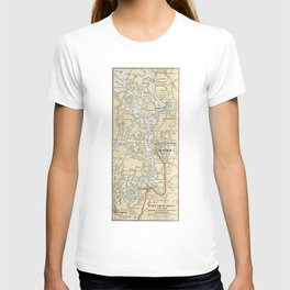 Vintage Map of The Puget Sound (1909) T-shirt