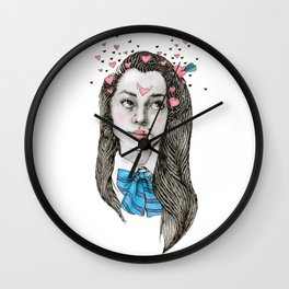 Teen in Love Wall Clock