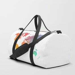 Map of the world colored Duffle Bag