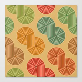 Retro Striped Pattern 18 Canvas Print