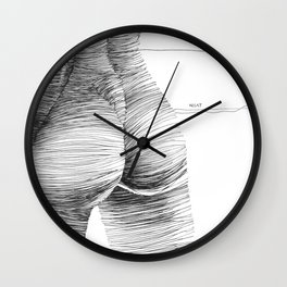 line drawing of a nude girl Wall Clock