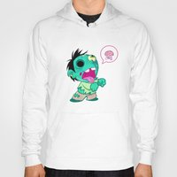 zombie Hoodies featuring zombie by Melissa Ballesteros Parada