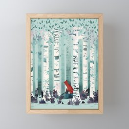 The Birches Framed Mini Art Print