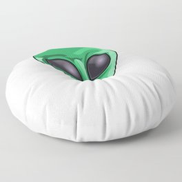 Come And Get Me Earthlings Green Funny UFO Extraterrestrial Space Floor Pillow