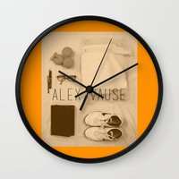 alex vause Wall Clocks featuring If I Were Alex Vause (2) by Zharaoh