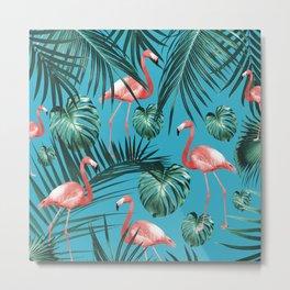 Tropical Flamingo Pattern #8 #tropical #decor #art #society6 Metal Print