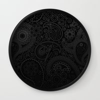 damask Wall Clocks featuring Damask by Rothko