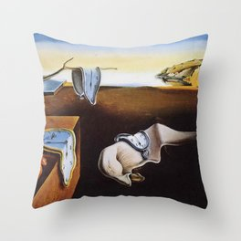 THE PERSISTENCE OF MEMORY - SALVADOR DALI Throw Pillow
