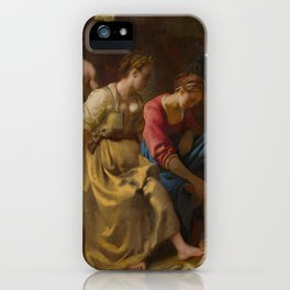 """Johannes Vermeer """"Diana and her Companions"""" iPhone Case"""