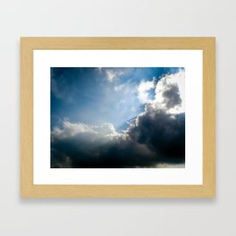Sun Rays Framed Art Print