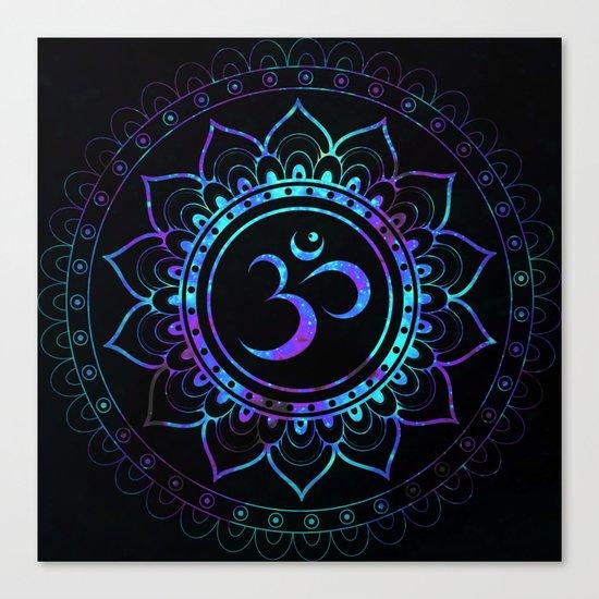 Om Mandala: Colorful Galaxy Canvas Print