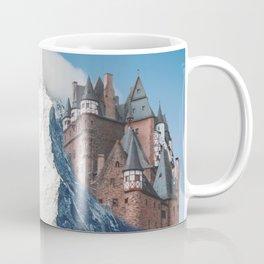 Castle on the Hill Matterhorn and Burg Eltz Castle in Germany Coffee Mug