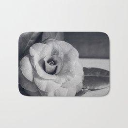 Camellia Black and White Bath Mat