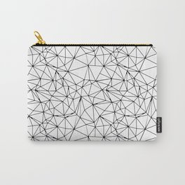 Mosaic Triangles Repeat Seamless Pattern Black and White Carry-All Pouch