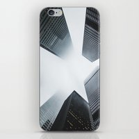 cityscape iPhone & iPod Skins featuring Cityscape by General Design Studio