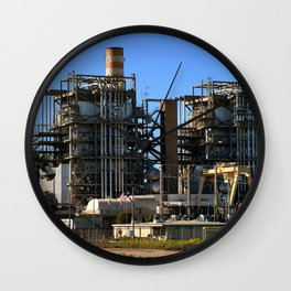 Natural Gas Power Plant Wall Clock