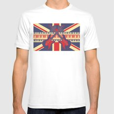 British Rock MEDIUM White Mens Fitted Tee