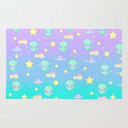 Fairy Kei Kawaii Aliens Rug