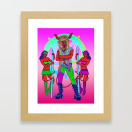 Dance With the Devil....to some Hair Metal Framed Art Print