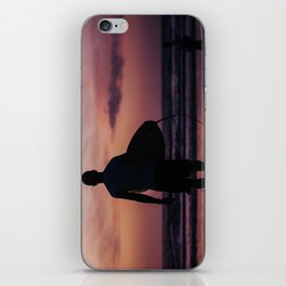 Surfing at Dawn in Cocoa FL USA iPhone Skin