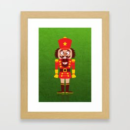 A Christmas nutcracker breaks its teeth and goes nuts Framed Art Print