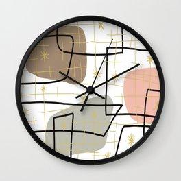 Mid Mod Mash Wall Clock
