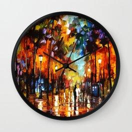 Tardis Art Stay Looking Wall Clock