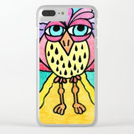 Weird Animals 6: Pinecone Owl 4 Clear iPhone Case