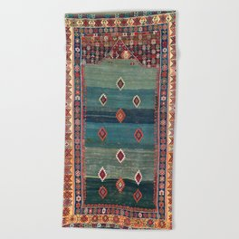 Sivas Antique Turkish Niche Kilim Print Beach Towel
