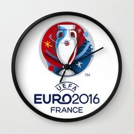 Logo Uefa Euro 2016 Wall Clock