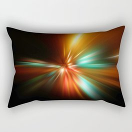 abstract acceleration speed motion on night road Rectangular Pillow