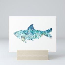 Fish with Ocean Waves Mini Art Print