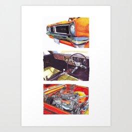 Holden GTS Set Art Print