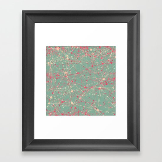 LINK abstract I Framed Art Print