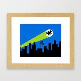 1966 Bat TV Show End Credits Art Framed Art Print
