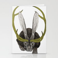 jackalope Stationery Cards featuring Jackalope by Justin McElroy