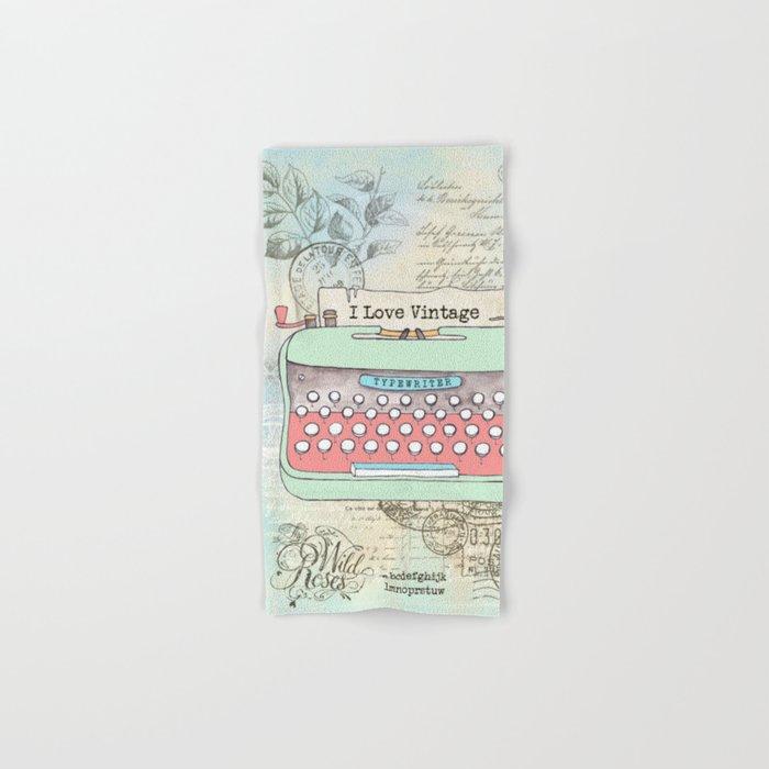Typewriter #2 Hand & Bath Towel