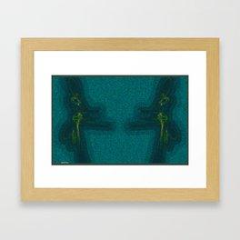 Frakblot Grasshopper  Framed Art Print