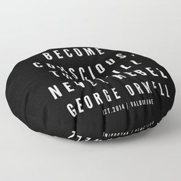 81    | George Orwell Quotes | 190529 | Black Floor Pillow