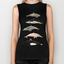 Dolphins and porpoises Biker Tank