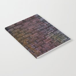 Brick textured wall on canvas ready for graffiti. Notebook
