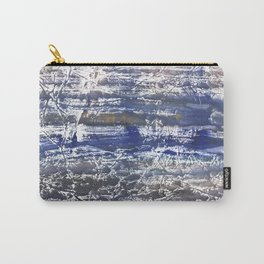 Gray Blue Marble abstract watercolor Carry-All Pouch