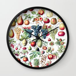 Adolphe Millot - Fruits pour tous - French vintage poster Wall Clock