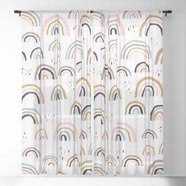 Love is love rainbow dreams Sheer Curtain