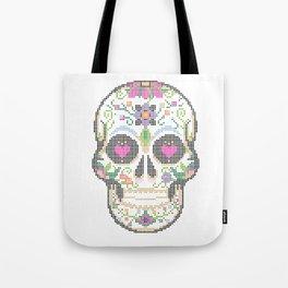 Day of the Dead, Cinco de Mayo, Calavera, Dia de los Muertos - Sugar Skull - Candy Skull Make Up Fac Tote Bag