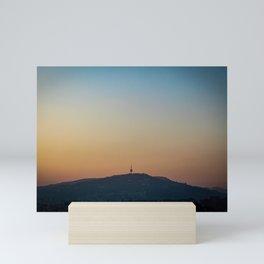 Sunset over Hum Tower Sarajevo Mini Art Print